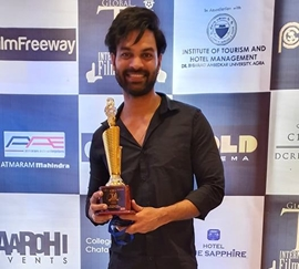 Yuvraaj Parshar received best director award at Global Taj International Film Festival