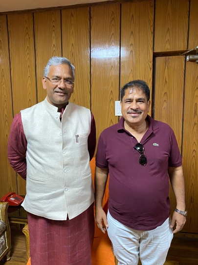 Industrialist Govind G. Wadhwani Met The Chief Minister of Uttarakhand