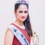 A.Sanjana Reddy Winner Of Miss Universe 2020 Along With Title Miss Glamorous  A Pageant Presented By Sandy Joil