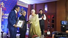 Pranab Mukherjee Awards Menaka Gandhi With 2019 Bharatiya Manavata Vikas Puraskar