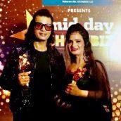 Actor Mukesh J Bharti & Producer Manju Bharti fecilated by Midday Showbiz Icon Award 2020